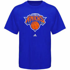 adidas New York Knicks Primary Logo T-Shirt - Royal Blue