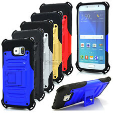 Armor Rugged Heavy Duty High Impact Hybrid Stand Cases Cover For iPhone Samsung