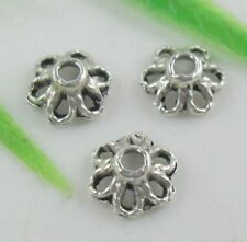 Wholesale 100/216Pcs Tibetan Silver  Bead Caps 6x3mm(Lead-free)