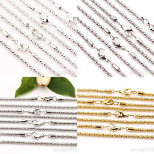 2/10Pcs Gold/Silver/White K  Lobster Clasps Metal Chains Jewelry Making 2.4mm