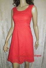 PEPPERBERRY BRAVISSIMO CORAL RED BRODERIE ANGLAISE SUMMER DRESS 8-18 C RC SC NEW