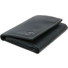 Timberland Slim Trifold Wallet Soft Genuine Leather Tin Gift Box 6+2 Card Slots