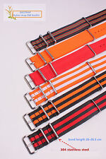 22mm  Watchband Woven Nylon Watch Straps Wristwatch Band 49 color avaliable