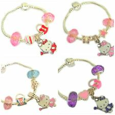 CHILDRENS CHARM BRACELET HELLO KITTY X5 CHARMS ALL SIZE