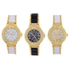 Women's Round Round Bracelet Bling Crystal Plated Style Wrist Watch New