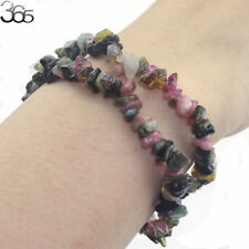 Beautiful Elegant Women Jewelry Gemstone Tourmaline Chip Beads Stretchy Bracelet