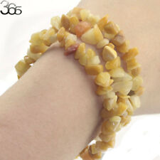 Elegant Jewelry Natural Stone Gemstone Yellow Jade Chip Beads Stretchy Bracelet