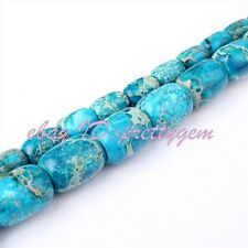 DIY Jewelry Making Cloumn Blue Imperial Jasper Gemstone Spacer Beads Strand 15""