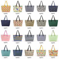 Ladies Canvas Summer Beach Large Tote Bag Shopping Bag Shoulder Bag Handbag