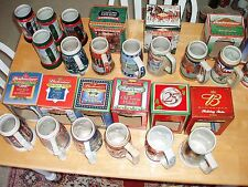 BUDWEISER BEER STEINS NEW IN BOXES CHOOSE HOLIDAY ANNIVERSARY  2000 THRU 2005