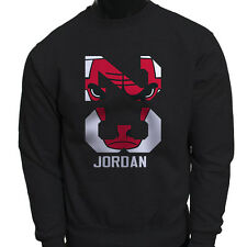 Chicago bulls Michael Air Legend 23 Jordan Mens Black Sweatshirt