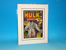 Incredible Hulk #1 Matted Marvel Cover Art Silver Age Jack Kirby Superhero