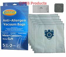 Deluxe HEPA Miele Style G N Canister Vacuum Bags 7189520 Anti Allergen Allervac