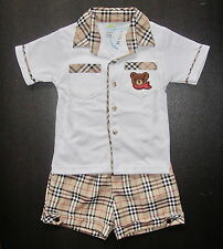 BABY BOY OUTFIT, Designer Outfit, Suit,Top & Shorts, Soft Cotton, Ages 0-4 Years