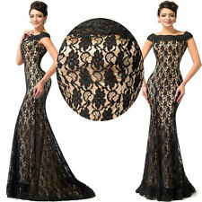 Lace Mermaid Formal Prom Cocktail Evening Gown LONG Dress Vestidos de graduation