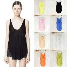New Fashion Womens Sleeveless Tee V-Neck Vest Camisole Loose Tank Tops T-shirt