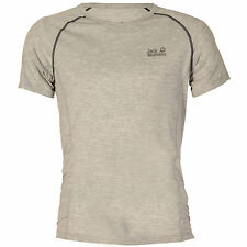 Mens Jack Wolfskin Dry N&Apos;Light Base Layer T-Shirt In Light Wgrey