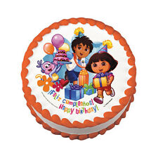 Dora and Diego Edible Cake Image Cupcake Topper Birthday Party Favor
