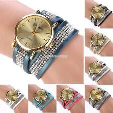 New Women's  Round Dial Faux Leather Band Wristwatch Casual Party Wrist Watch