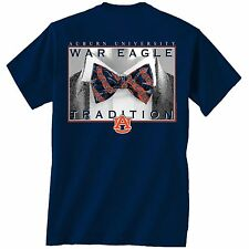 Auburn Tigers Unisex T-shirt - Bow Tie Tradition - Color Navy