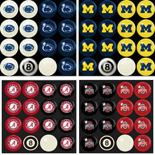 Choose Your NCAA Team Home vs Away Billiard Pool Ball Set - 16 Balls by Imperial