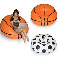 Inflatable Sofa Chair Couch Bean Bag Soccer Ball Football Basketball Lounge Rest