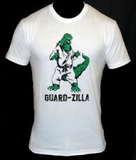 "Toro ""Guard-Zilla"" T-Shirt Brazilian Jiu Jitsu Shirt gracie BJJ - white"