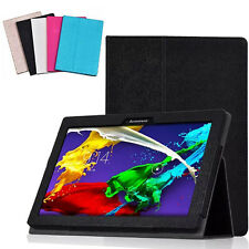"""Fashion Flip Folio Leather Case Cover Stand For 10.1""""Lenovo Tab 2 A10-70F Tablet"""