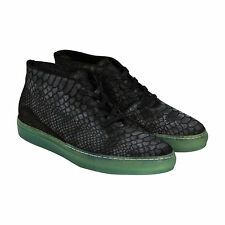 Android Homme Shuttle Mid Mens Black Suede High Top Sneakers Shoes