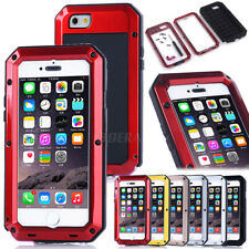 New Rugged Aluminum Metal Bumper Gorilla Glass Armor Tough Case Cover For iPhone