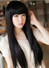 New Lady Straight Wigs Women Wig With Full BANG Heat Resistant Fashion Party Wig