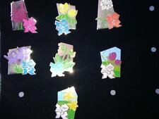 LONDON 2012 OLYMPICS PIN BADGE - FLOWERS  YOU CHOOSE