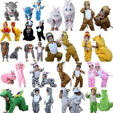 Unisex Kids Children Kigurumi Pajamas Animal Cosplay Costume Onesie Sleepwear