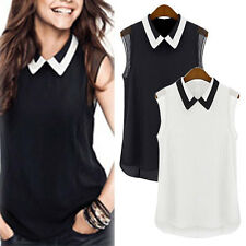 Fashion Womens Chiffon Tops Crew Neck Loose Blouse Casual T-Shirt Short Sleeve