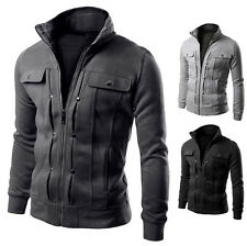 COLLECTIONS Mens Simple Slim Fit Coat Jackets Stand Collar Overcoat Casual Tops
