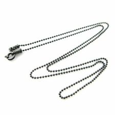 """Oxidized Sterling Silver Necklace - 1.2mm Ball Chain (16""""-36"""")"""