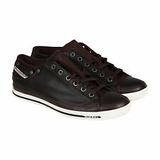 Diesel Mens Exposure Low I Brown Textile Sneakers Shoes