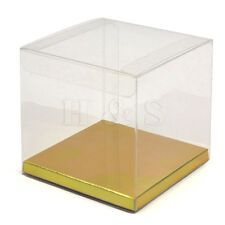 10x10x10cm Luxury Clear PVC Plastic Cube Gift Packaging Box Wedding Favour Sweet