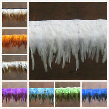 New Hackle feather fringe of 1 yards trim 7 Color selection