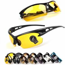 Mens Womens UV400 Cycling Driving Riding Glasses Bike Sports Sunglasses Goggles