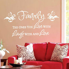 Family Live Love Laugh Art  Wall Quote Stickers, Wall Decals, Words Lettering bn
