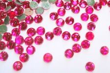 144 Hot Fix Iron On Round Rhinestone Jewel *FREE SHIP* Fuchsia SS20 5mm-Hot Pink