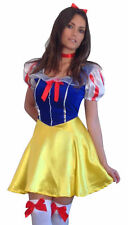 FANCY DRESS SNOW WHITE PRINCESS FAIRYTALE COSTUME * Free Stockings * All Sizes *