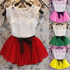 Child Girl Chiffion Princess Dress Kids Party Pageant Wedding Tutu Skirt Dresses