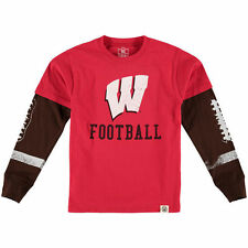 Wes & Willy Wisconsin Badgers Toddler Red Football Fooler Long Sleeve T-Shirt
