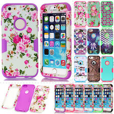 Armor Cute Pattren Dual Layer Matte Rugged Combo Case Cover For iPhone 6 6S Plus