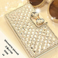 New BLING BOWKNOT CRYSTAL DIAMOND WALLET FLIP CASE COVER FOR IPHONE/SAMSUNG 2015