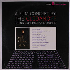 CLEBANOFF STRINGS, ORCHESTRA & CHORUS: A Film Concert LP (slight cover wear) Ea