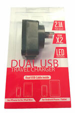 DUAL USB PORT 2.1 A RAPID AC CHARGER AU SAFETY APPROVED for Samsung LG HTC