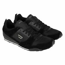 Diesel Mens Shorty Black  Suede & Synthetic Lace Up Sneakers Shoes